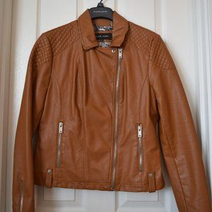 Brown Faux-Leather Jacket